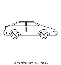 Car icon. Outline illustration of car vector icon for web design