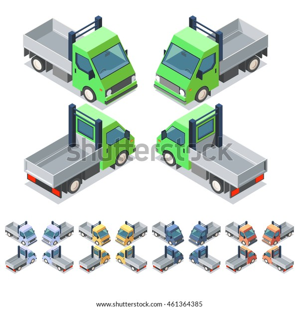 Car icon set. Isometric 3d vector illustration. Eps 10.