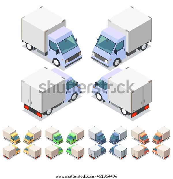 Car icon set. Isometric 3d vector illustration. Eps 10.