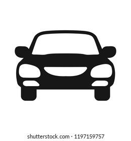 Car icon silhouettes – stock vector