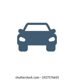 car icon, stock vector illustration flat design style on white background.
