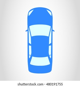 Car icon. Top view. Vector illustration.