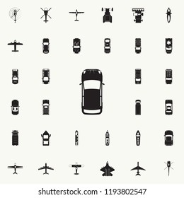 car icon. Transport view from above icons universal set for web and mobile