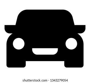 Car icon. Vector icon of auto