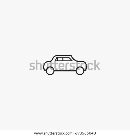 Car Icon Vector Can Be Used Stock Vector Royalty Free 693585040