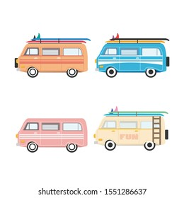 car icon vector, classic car design,van car