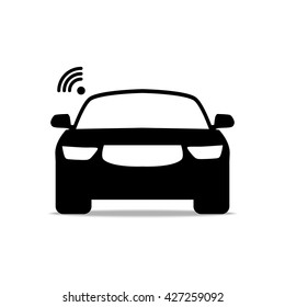 Car Icon, Car Icon Vector, Car Icon Flat, Car Wi fi