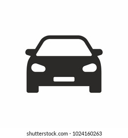 Car icon. Vector icon isolated on white background.