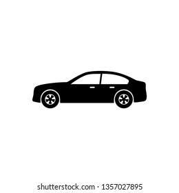 Car icon vector. Modern Sedan car symbol illustration