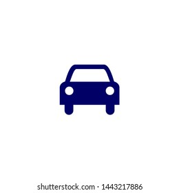 Car icon.car icon vector on gray background. Vector illustration.