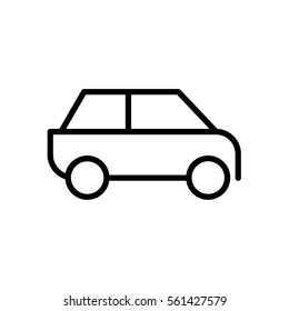 Car icon.car icon vector on white background. Vector illustration.