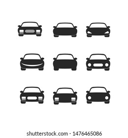 car icon vector sign isolated on white background. car symbol template color editable