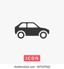 car Icon Vector. Simple flat symbol. Illustration pictogram