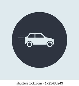 car icon. vector simple symbol in flat round style
