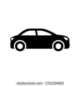 car icon vector symbol on white background. eps10.