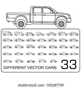 Pickup Truck Line Drawing Images Stock Photos Vectors Shutterstock