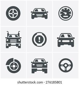 Car Icons Set, Vector Design