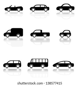 Car icons set (Vector illustration)