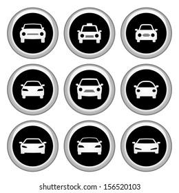 Car Icons Silver Icon Set