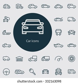 car Icons Vector set.