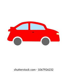 car illustration isolated - vector car, transportation vehicle -  automobile design