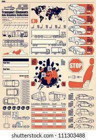 car info graphics,vector set