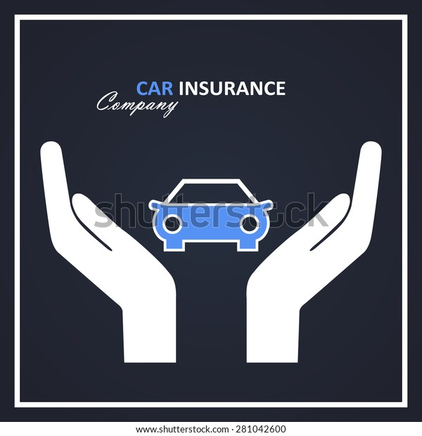 Car Insurance Company Logo Blue White Stock Vector Royalty Free