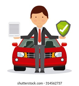 car insurance design, vector illustration eps10 graphic