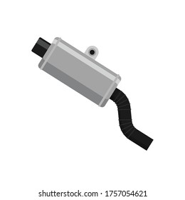 Car intake pipe flat style isolated on white. Industrial object concept vector for your design work, presentation, website or others.