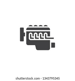 Car internal combustion engine vector icon. filled flat sign for mobile concept and web design. Car engine glyph icon. Symbol, logo illustration. Pixel perfect vector graphics