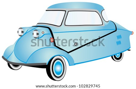 Car Invalids Micro Car Invalid Carriage Stock Vector Royalty Free