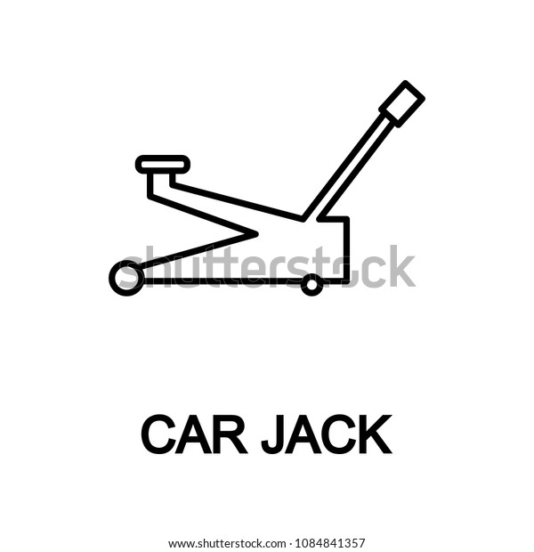 car jack icon. Element of car repair for mobile concept and web apps. Detailed  icon can be used for web and mobile. Premium icon on white background