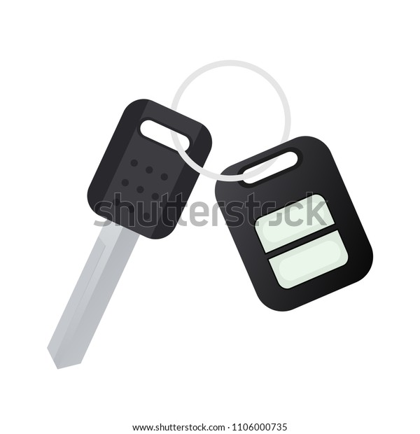 Car Key Alarm Key Fob Clipart Stock Vector (Royalty Free