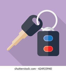 Car Key and of the alarm system. Vector