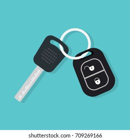 Car Key and of the alarm system. vector illustration