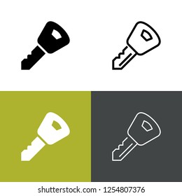 Car Key Icon Set