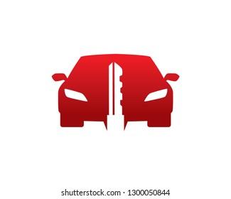 Car Key Logo Template, Icon, Symbol - Vector