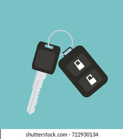 Car key with remote control car