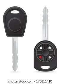 car key vector illustration isolated on white background