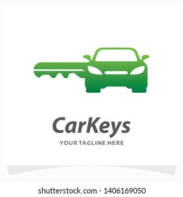 Car Keys Logo Design Template