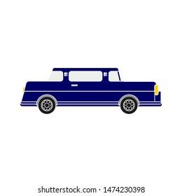 car limousine icon. flat illustration of car limousine vector icon. car limousine sign symbol