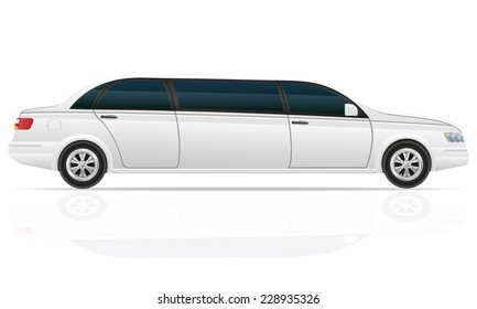 car limousine vector illustration isolated on white background