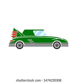 car limousine vintage icon. flat illustration of car limousine vintage vector icon. car limousine vintage sign symbol