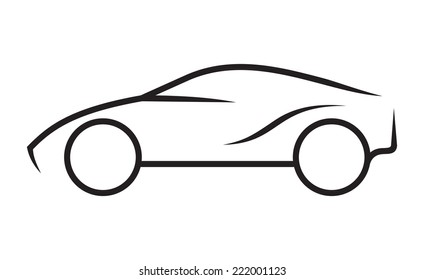 Line Drawing Car : Car line drawing images stock photos & vectors shutterstock