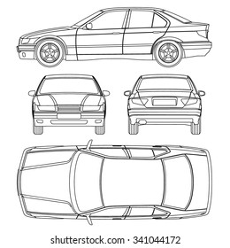 Car line draw blueprint front four stock vector 343640963 shutterstock car line draw conditiondamage report form vector malvernweather Images