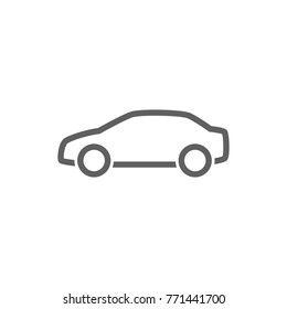 Car line icon vector. Transportation concept.