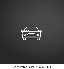 Car linear vector icon. Modern outline Car logo concept from Transportation collection. Suitable for use on web apps, mobile apps and print media.