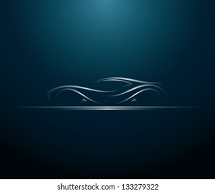 Car lines - vector illustration