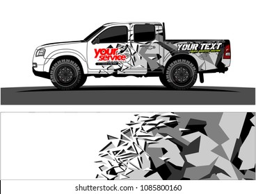 car livery vector. abstract explosion with grunge background design for vehicle vinyl wrap