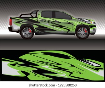 Car livery wrap decal, rally race style vector illustration abstract background